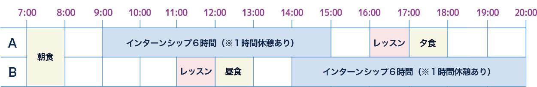 sample schedule - セブ国際空港インターンシップ